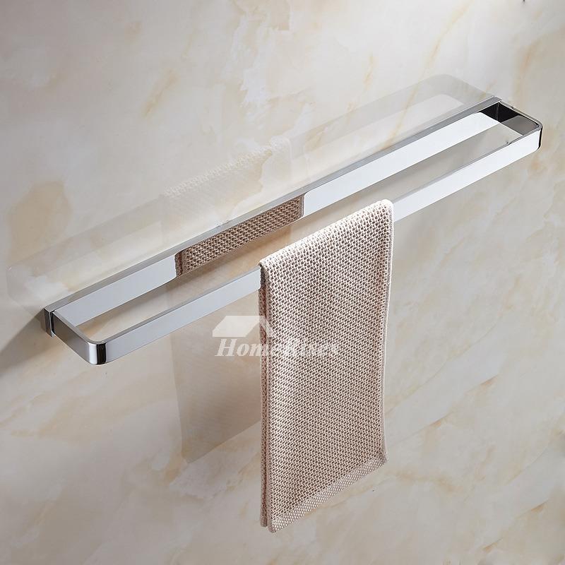 modern bathroom brass double towel bar wall mounted polished chrome shower hotel towel rack