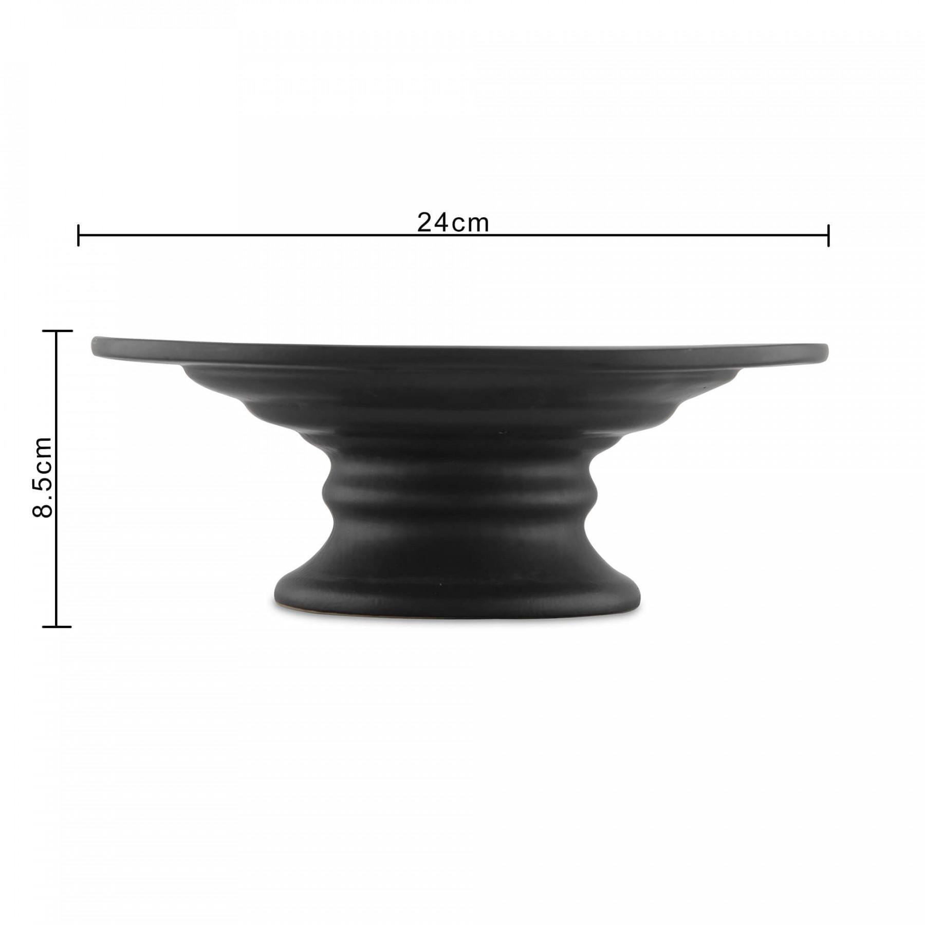10 Inch Round Ceramic Cake And Dessert Pedestal Display