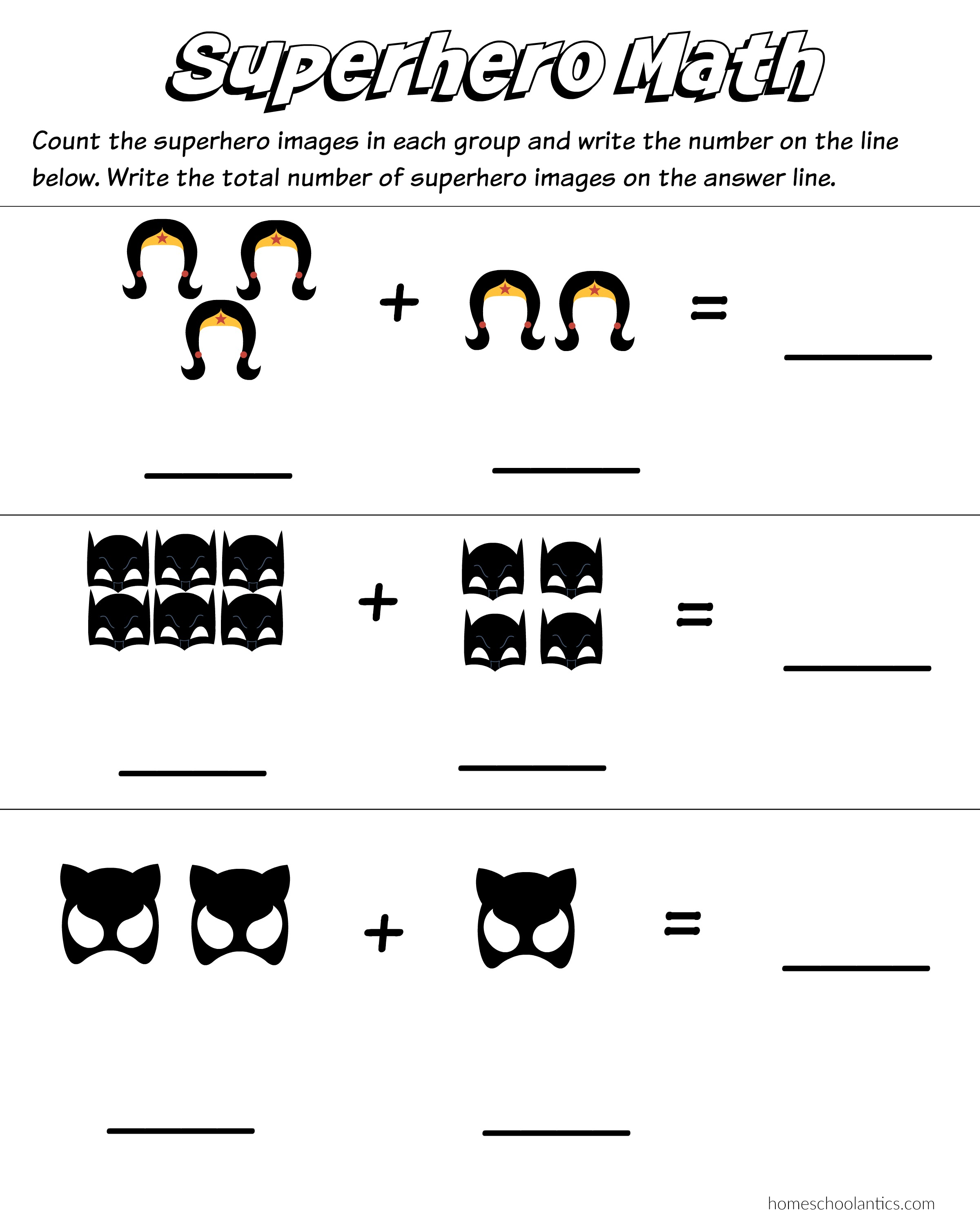 Addition Counting Principle Worksheet