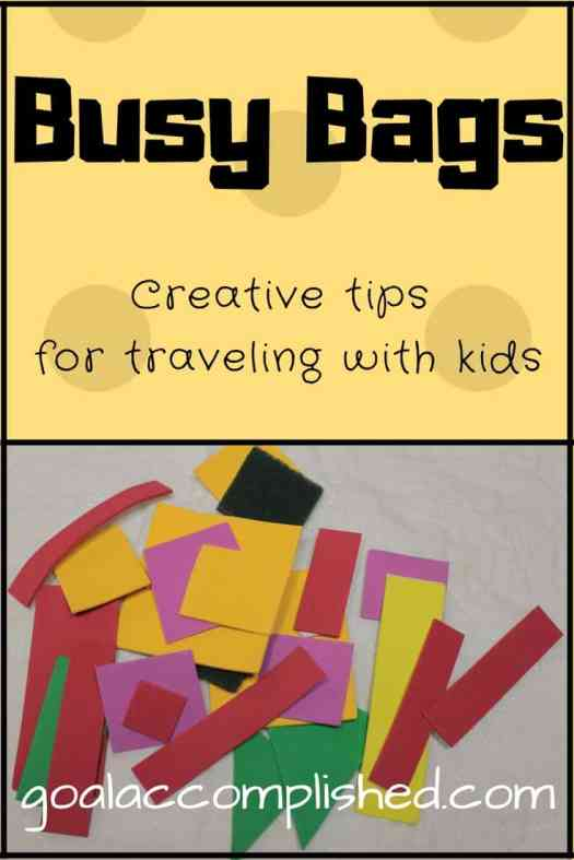 Travel with your kids! Foam shapes will keep a toddler busy for a few minutes. Get lots of bags ready.
