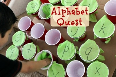 Preschool Theme Ideas  Alphabet Games  and Sunflower Crafts     apple punch game