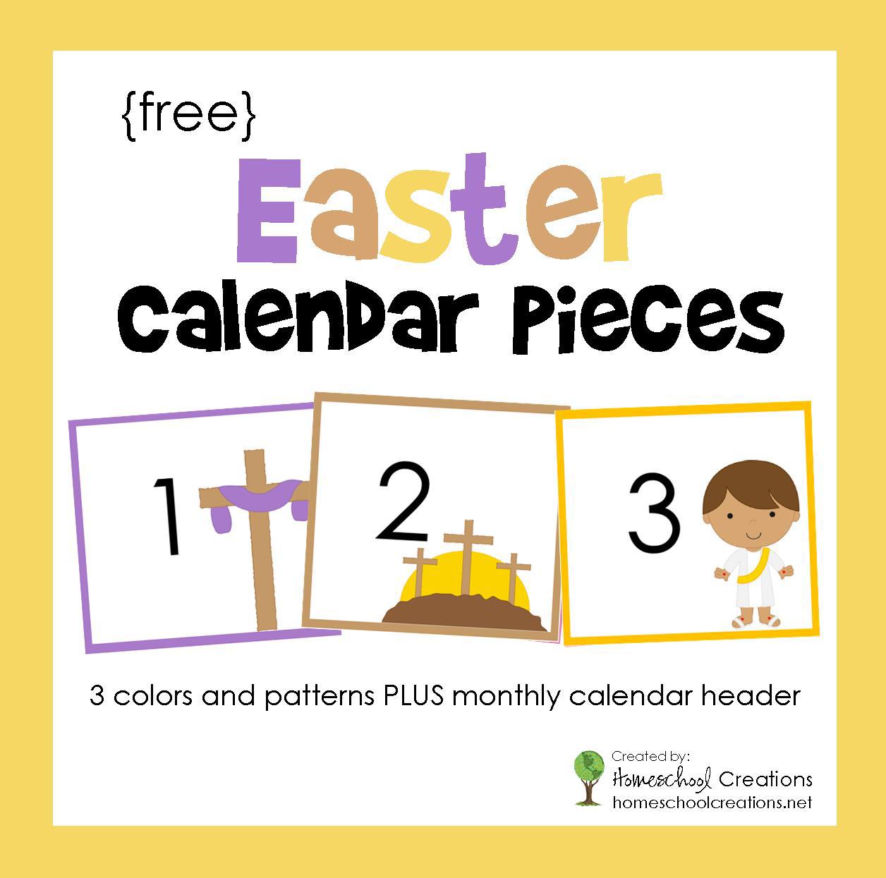 Easter Pocket Chart Calendar Pieces
