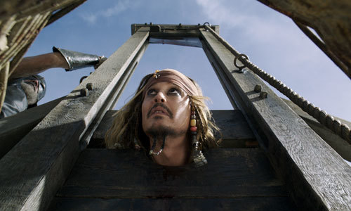 Image result for pirates of the caribbean dead men tell no tales guillotine gif