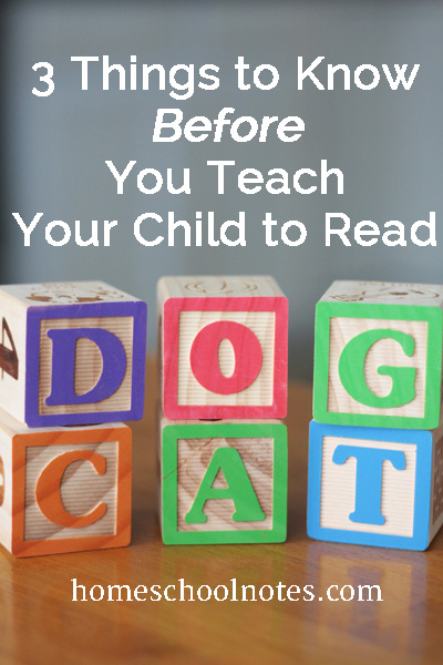 3 Things to Know Before You Teach Your Child to Read