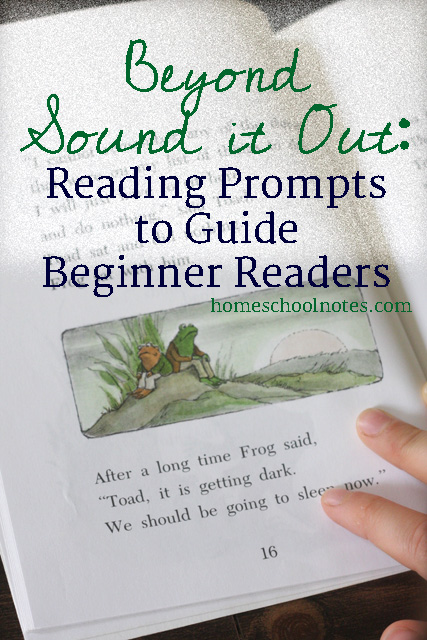 Beyond Sound it Out: Reading Prompts to Guide Beginner Readers