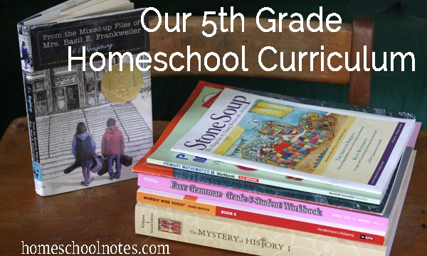 Our 5th Grade Homeschool Curriculum