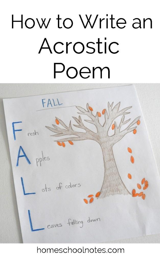 write a acrostic poem
