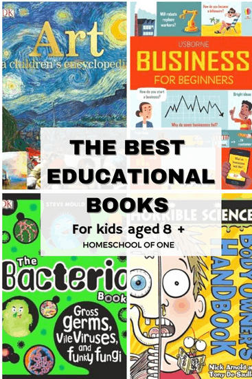 The best educational books for kids over the age of 8 #books #kidsbooks #education