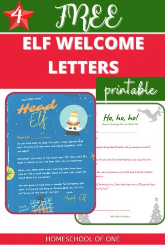 Elf on the Shelf Welcome Letters - 4 free printables
