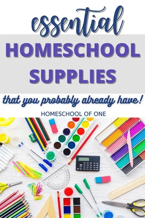 essential homeschool supplies for when you just start to homeschool.