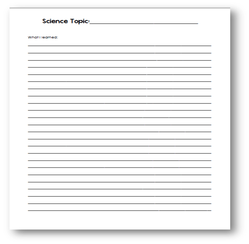 Photo Page: FREE Science Notebooking Pages