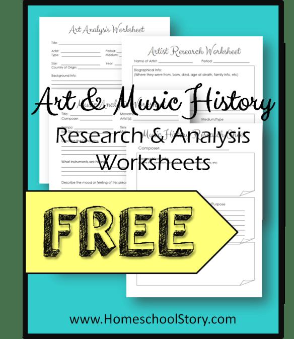 FREE: History Through Art & Music - Homeschool Story