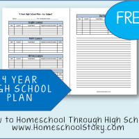Homeschooling Through High School - The Four Year Plan