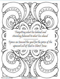 New Year Coloring Scripture Page