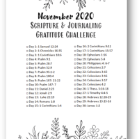 November Gratitude Scripture & Journaling Challenge FREE DOWNLOAD