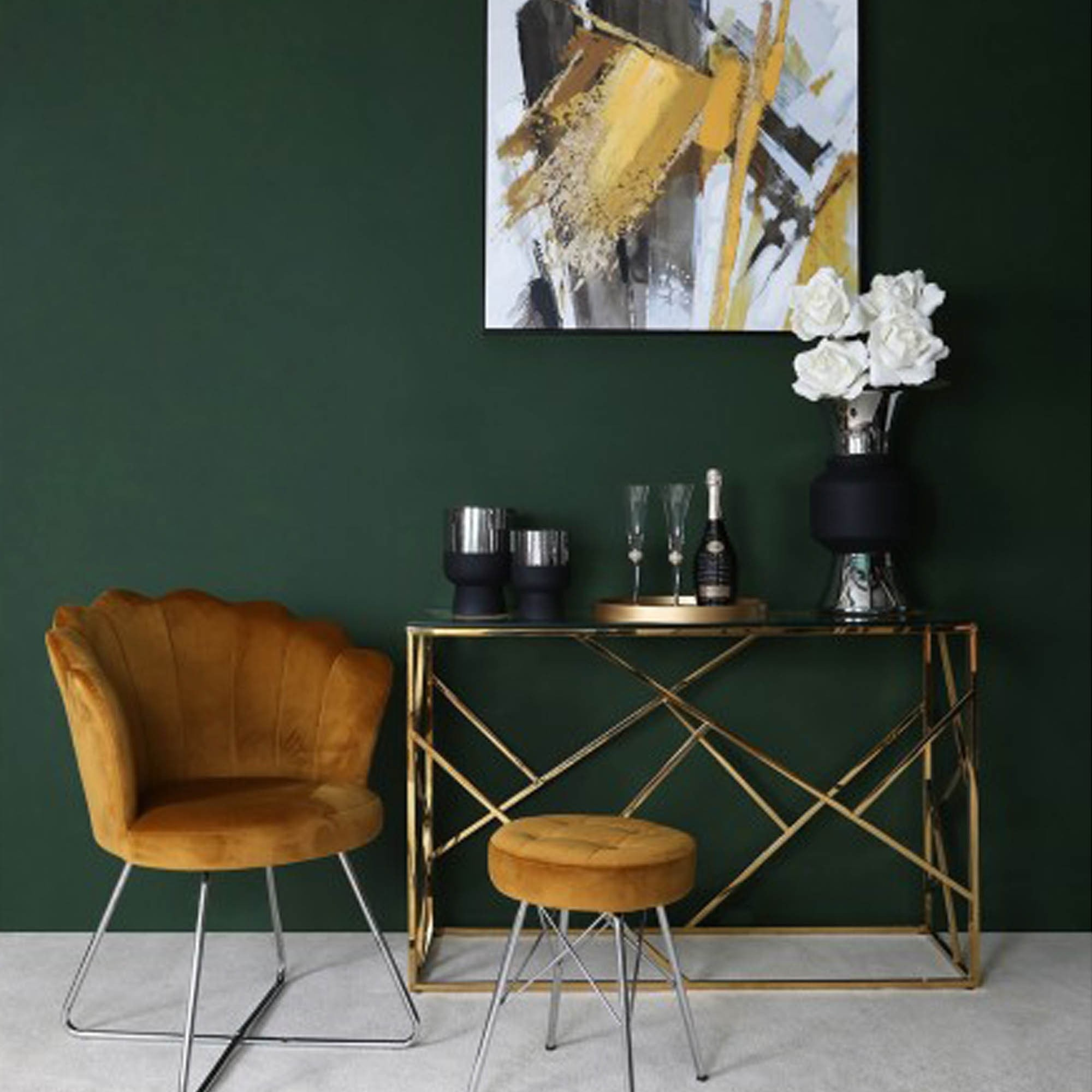 Azaria Gold Metal Console Table Gold Console Tables Console Tables