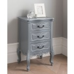 Dark Grey Antique French Style Bedside Table Grey Bedside Table