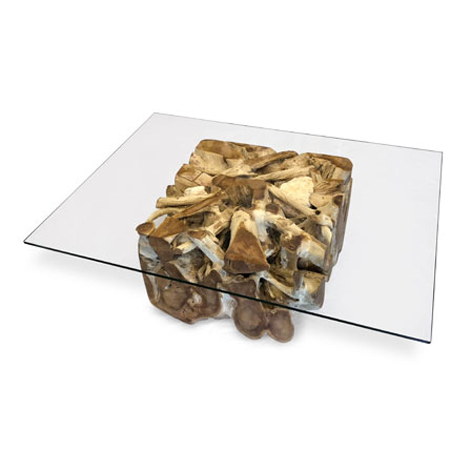 driftwood coffee table teak root spider stone rectangular glass large