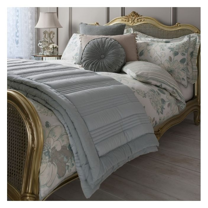 Duck Egg Ashby Quilted Bedspread Bedroom Furniture