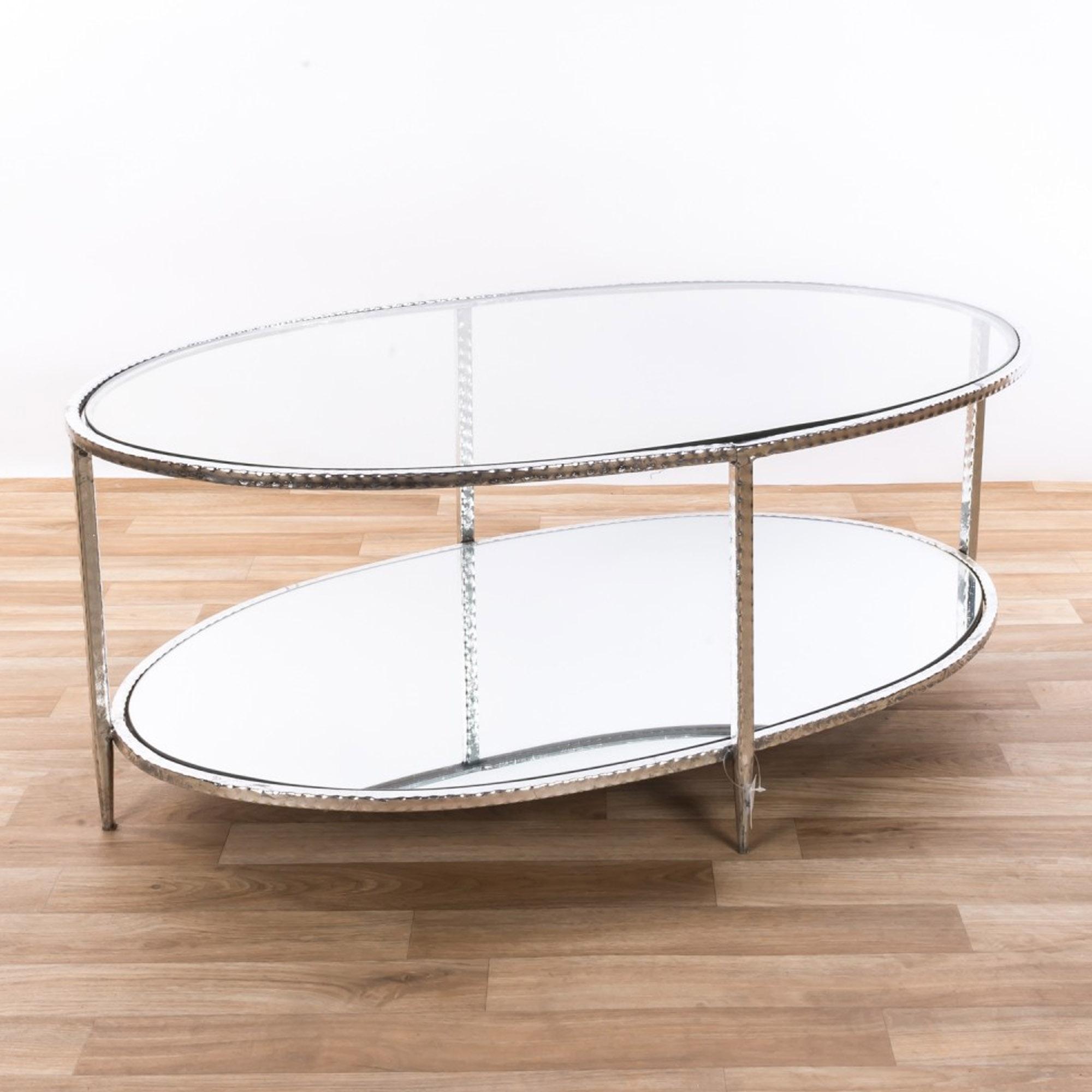 gin shu silver glass coffee table