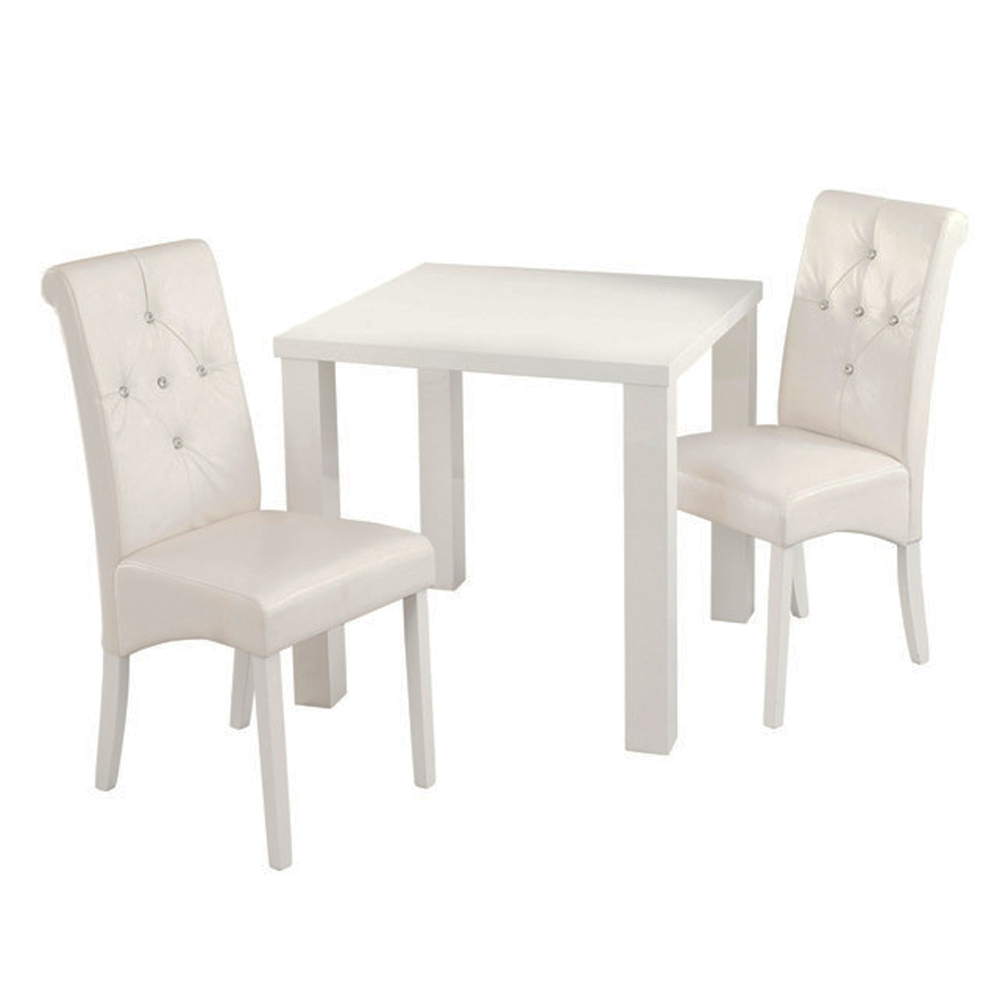 Monroe Diamante White Dining Chair Pack Of 2 White Dining Chair