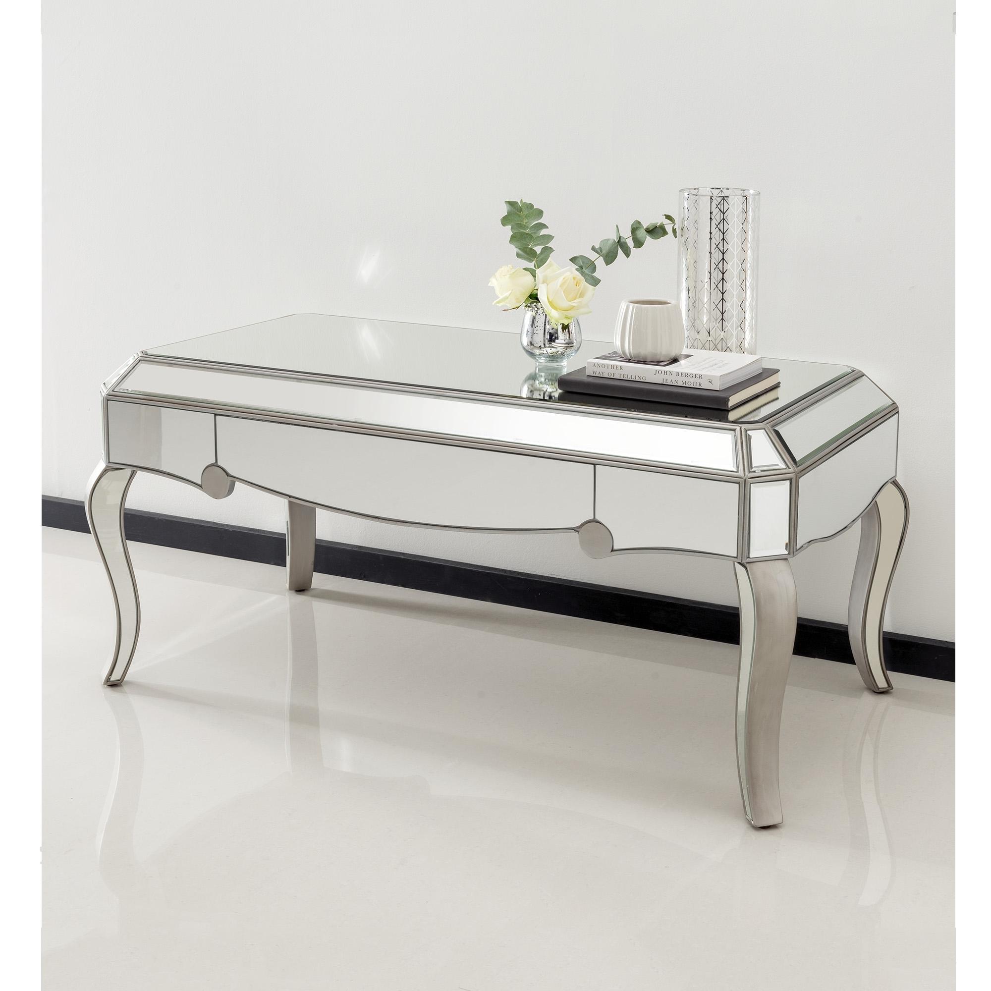 venetian mirrored coffee table