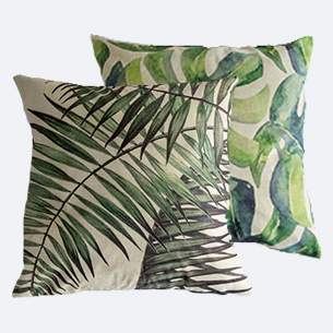 Botanische sierkussens print jungle monstera planten kussens homeseeds