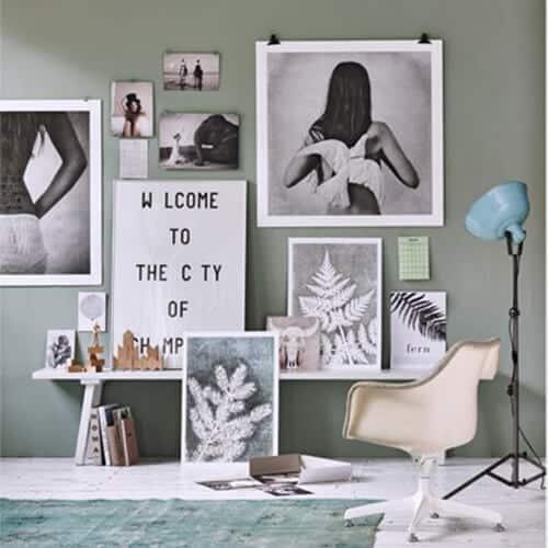 Versieer je muur met verschillende maten lijsten en prints | www.homeseeds.nl