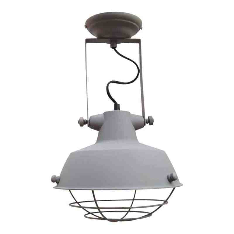 Industriele plafondlamp grijs lamp verlichting urban interiors   www.homeseeds.nl