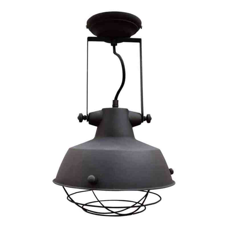 Industriele plafondlamp prison zwart van urban interiors   www.homeseeds.nl