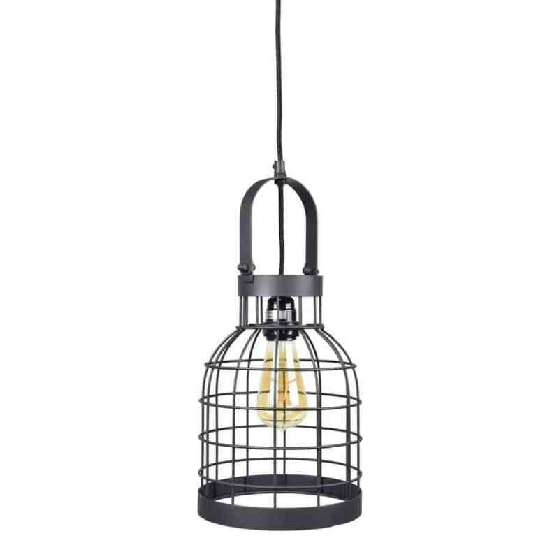 Industriele draadlamp Bucket small van Urban Interiors Zwart