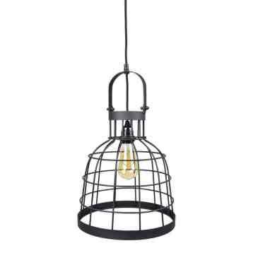 Stoere draadlamp Urban Interiors Bucket Large zwart