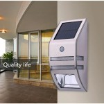 Solar 2LED Stainless Steel Wall Hanging Lamp