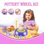 Bginners Pottery Wheel Kit Craft Toys For Kids With Paints And Tools Diy Toy Clay Pots Making Pottery Wheel Set For Kids Gifts