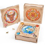 Toy Lion Animal Irregular Three-dimensional Special-shaped Wooden Puzzle