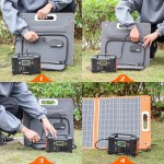 Solar power system for computer TV laptop outdoor with 60W solar panel 200W solar generator 110V 220V AC output power supply