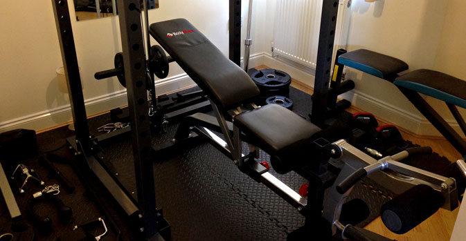 Turning a full room or garage into a gym home shredded