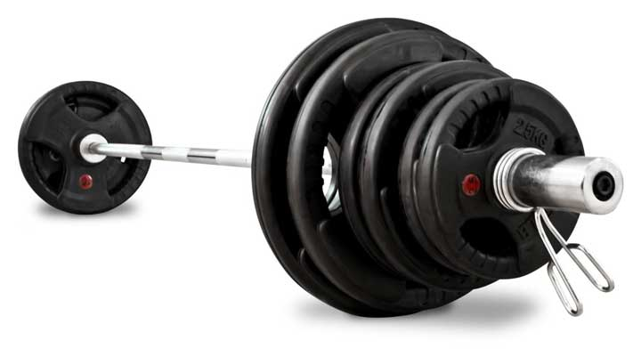 BODYMAX 100KG OLYMPIC CAST BARBELL KIT WITH 7′ OLYMPIC BAR