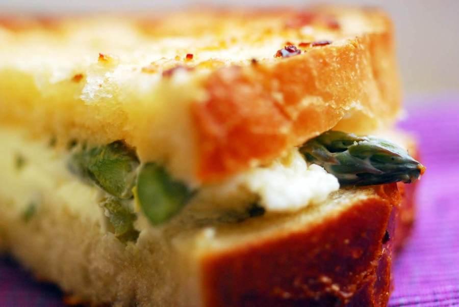 Asparagus and cream cheese sandwich | Homesick Texan