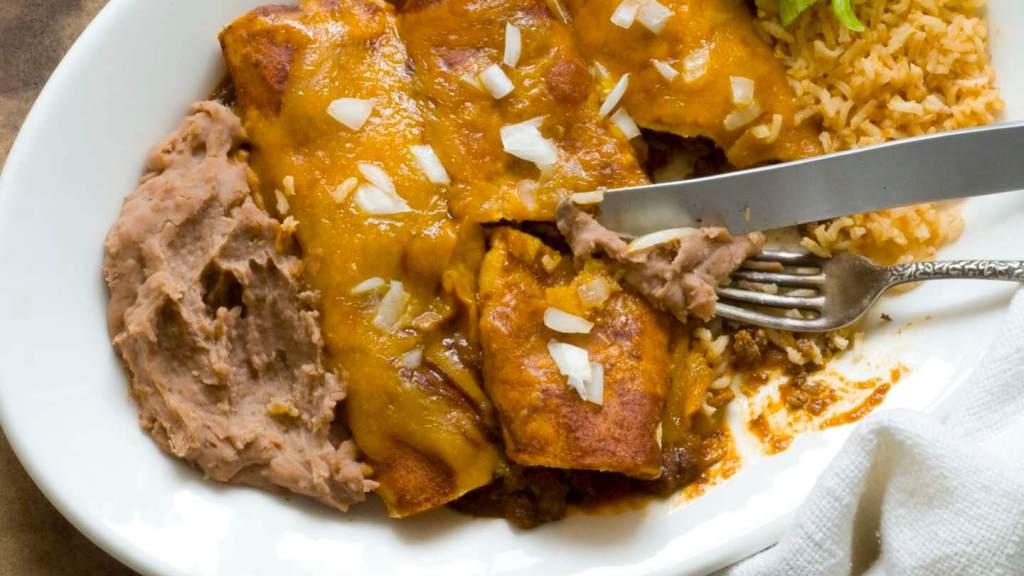 Beef enchiladas with chipotle-pasilla chili gravy | Homesick Texan
