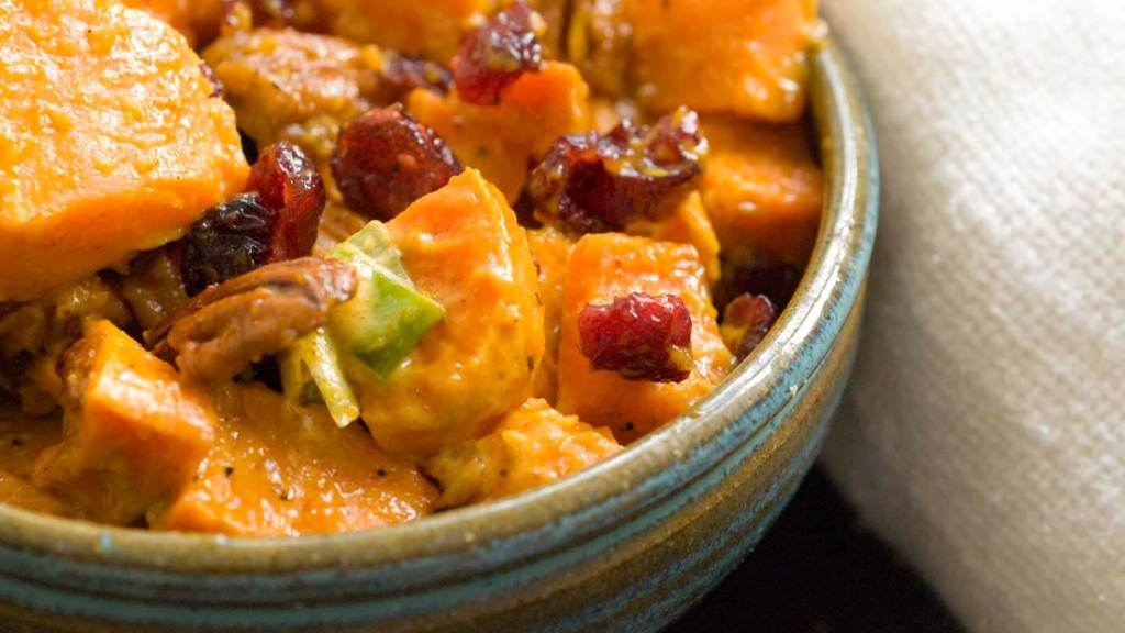 Sweet potato salad with cranberries and pecans | Homesick Texan