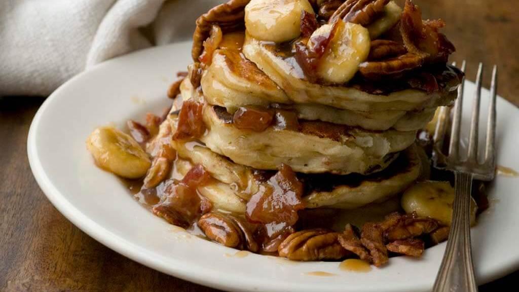 Banana bacon pecan pancakes   Homesick Texan