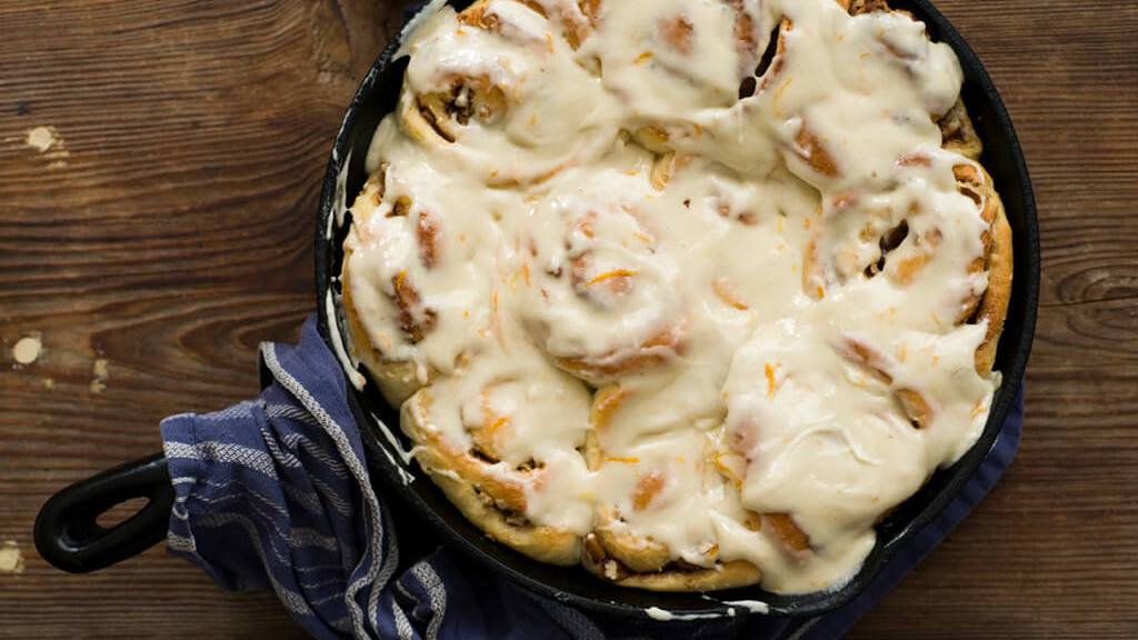 Orange pecan cinnamon rolls | Homesick Texan