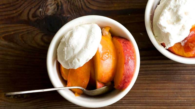 Peaches and ginger-lime whipped cream   Homesick Texan