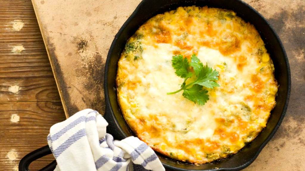 Green chile corn pudding | Homesick Texan