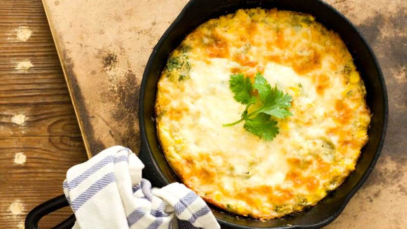 Green chile corn pudding   Homesick Texan