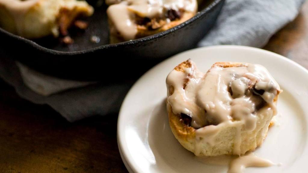 Bacon pecan cinnamon roll biscuits | Homesick Texan