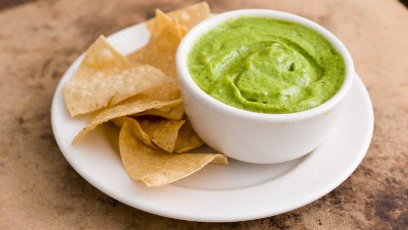 Green chile creamy avocado salsa | Homesick Texan