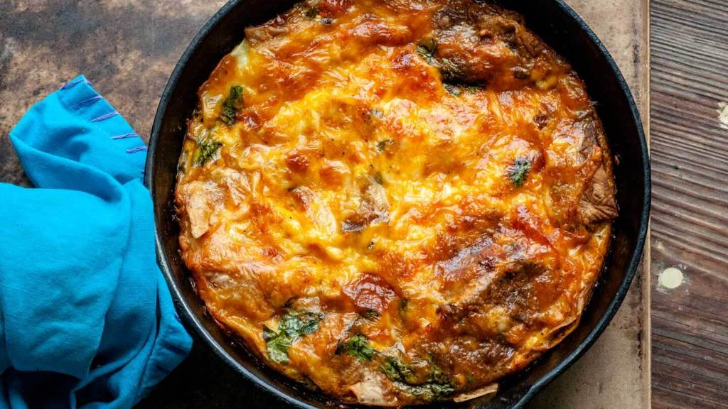 Migas breakfast casserole   Homesick Texan