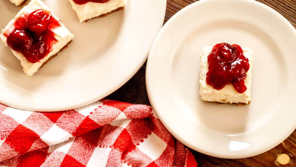 Cherry Dr Pepper cheesecake bars | Homesick Texan